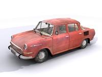 3d model skoda 1000mb old car