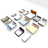 3d beds double divan model