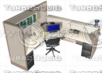 maya cubicle desk