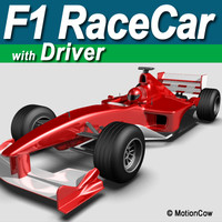 F1 Race Car with Driver
