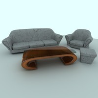 sofa table 3d model