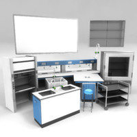 3d science lab pack model