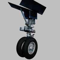 3d model aircraft wheel
