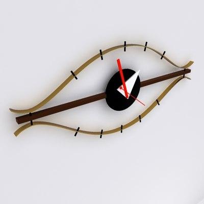 3d george nelson eye clock model. Black Bedroom Furniture Sets. Home Design Ideas