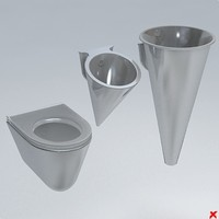 3d model toilet wc bidet