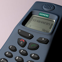 3d siemens phone mobile model