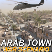 Arab Town-Set01 War Scenario (Max)