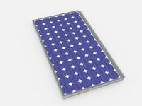 solar pv panel 3d model