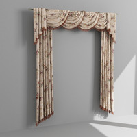 draperies curtain 3d model