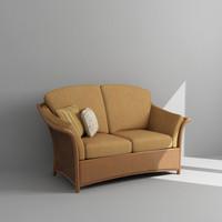 3d outdoor loveseat armchair