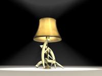 3d deer antler lamp