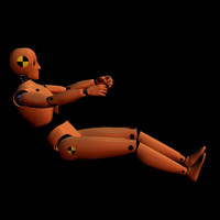 3d robot crash test dummy