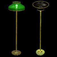 3d model lamps furnishings standing