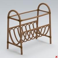 magazine rack 3d max