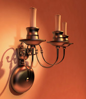 3d model lighting sconce candlestick