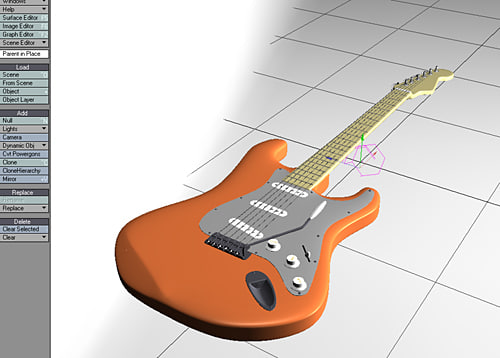 creamsicle 70s electric guitar 3ds - The Creamsicle 70