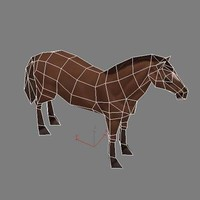 Horse low polygonal, Rigged
