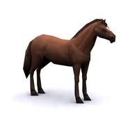 3d horse polygons
