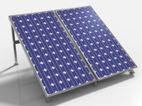 obj solar pv panel array