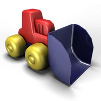3d tractor toy model