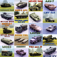 Military Army Vehicle x20 Set01