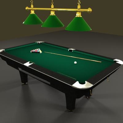Pool Billiard Table 3d Max