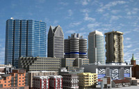 25 definition buildings 3d model