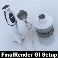 braun mr6550 mixer blender 3d max