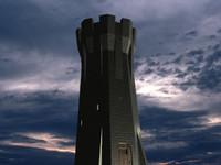 3d model castle tower