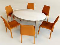 3d chair roma table compar