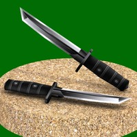 3d stealth tanto combat knife model