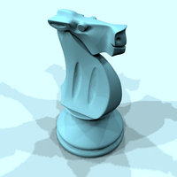 horse chess piece 3d model