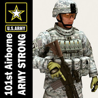 army 101st airborne division 3d model