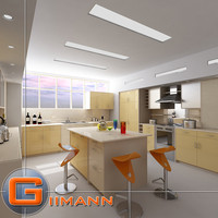 kitchen interior house 3d model