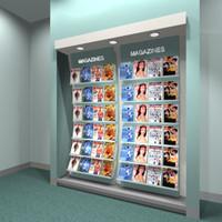 magazine rack 3d model
