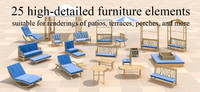 3dsmax furniture patios