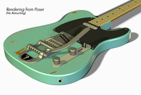 fender telecaster electric guitar obj