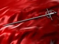 rapier fencing sword 3d 3ds