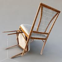 3d simple classic chair selva model