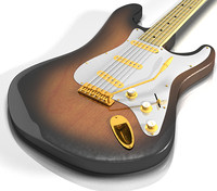 3d model electric guitar classic stratocaster