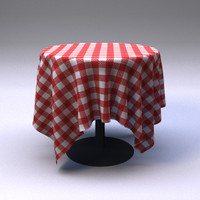 3d model restaurant tablecloth table
