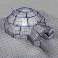 igloo snow ice 3d model