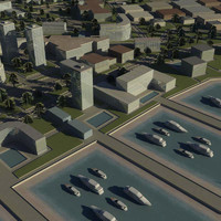 3d model island city