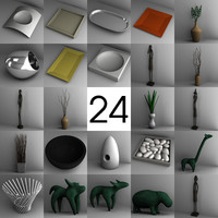 interior decoration bowls 3ds