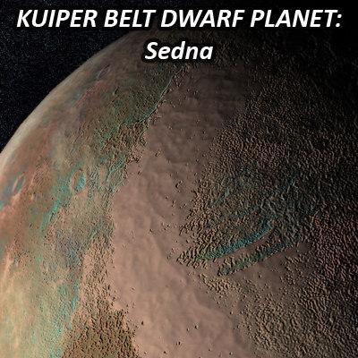 3d model dwarf planet sedna