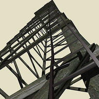 tower wood 3d model