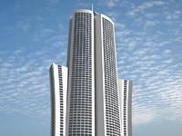 3d futuristic building 11