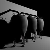 3d model storage silos