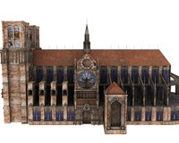 3d notre dame cathedral model