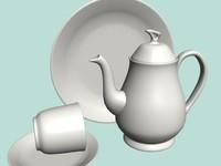 dinner ceramic 3d max